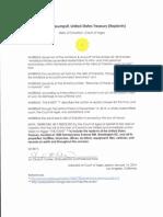 Special Assumpsit United StatesTreasury (Replevin)