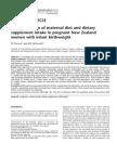 Asosiation Maternal Dietary and Suplement