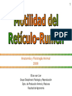 Motilidad Reticulo Rumen 2009