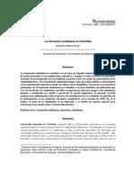 Historia de La Formacion Ciudadana en Colombia