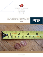 Bc27 Raport de Monitorizare a Progresului in Implementarea Politicilor Publice 2009