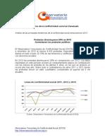 Conflictividad Social en Venezuela en 2013