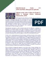 PROTOCOLOS PARA UN APOCALIPSIS - RESEÑA DE FELIX RODRIGO AL LIBRO DE FRANK RUBIO