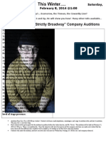 """DPPAC's """"Strictly Broadway"""" Company Auditions"""
