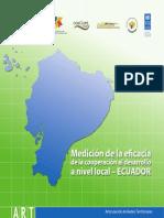 Medicion de La Eficacia de La Cooperacion Al Desarrollo a Nivel Local