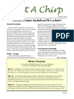 Grosse Pointe Audubon Winter 2014 Newsletter