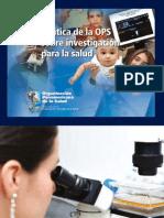 2010 Politica OPS Investigación en salud