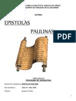 Folleto Epístolas Paulinas