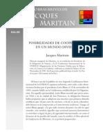 Maritain Jacques - Posibilidades de Cooperacion en Un Mundo Dividido