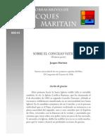 Maritain Jacques - Sobre El Concilio Vaticano II