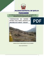 Perfil. Agua Potable Cruz Punta Quillo Ultimo