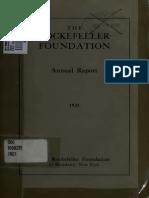 Rockefeller Report (1921)