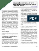 COMPOSICIÓN CORPORAL ÓPTIMA PARA EL RENDIMIENTO DEPORTIVO Y LA APTITUD FÍSICA