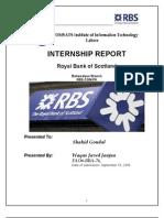 RBS Internship Report