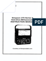 Simpson 270-5 User Manual-2002