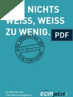 [DE] ECM Allianz Deutschland | ECM jetzt! | Broschüre 2009