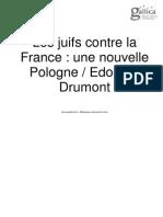 Les Juifs Contre La France Drumont