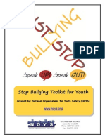 Noys National Organizations for Youth Safety Stop Bully toolkit