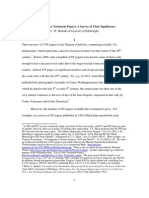 The Early NT Papyri - A Survey - Hurtado