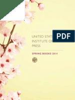 USIP Press Spring 2014 Catalog