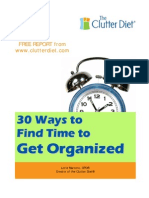 30 Ways to Find Time to get Organized
