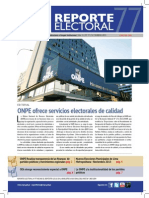 Reporte Electoral N° 77