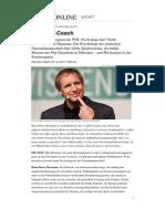 Hans Dieter Hermann Psychologe Fussball Nationalmannschaft