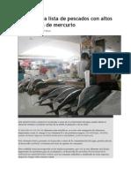 FDA Elabora Lista de Pescados Con Altos Contenidos de Mercurio