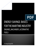 Energy-Savings Basics For The Maritime Industry - Engines, Machinery, Alternative Fuels