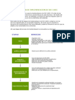 Diagrama de Implementacion de Iso 14001