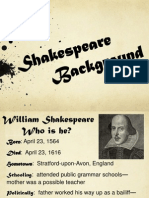 shakespeare background