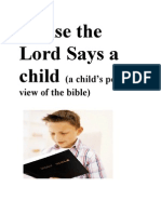 Praise the Lord Says a Child