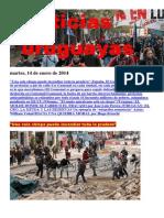 Noticias Uruguayas Martes 14 de Enero Del 2014