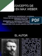 El concepto de poder segun Weber