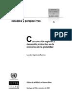 Construcción regional y desarrollo productivo en la economia global Cepal 2001
