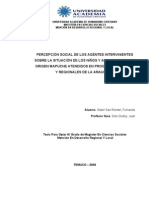 Slater  Percepción social sobre niños mapuches en programas de la Araucanía