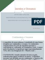 Continentes e Oceanos CV
