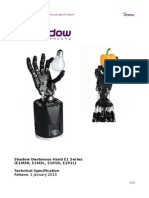 Shadow Dexterous Hand Technical Specification E1 20130101