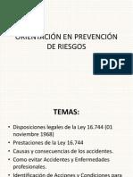 ORIENTACIÓN EN PREVENCIÓN DE RIESGOS