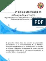 Evaluación de la autoeficacia en niños y adolescentes