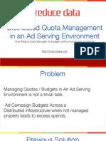 quota management at reduce data