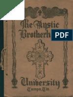 The Mystic Brotherhood University (late 1920s)