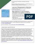 Bias Reduction in Kernel Density Estimation via Lipschitz Condition