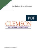 Clemson Physics Grad Handbook 2013