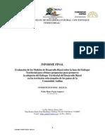 01 Evaluación de los Modelos de DR sobre la base del Enfoque Territoria1l