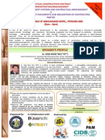 1st Session of Practical Construction Contract Administration & Management 2013-2014 Rev.F4