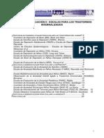 escalas de evaluación para trastornos internalizados