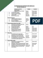 Perancangan Program Dan Aktiviti Unit Hem 2013