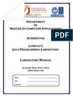 10mca37-Java Programming Lab Manual 2013-14