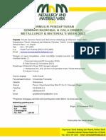 Formulir Seminar Metalurgi Arifin Hanafi